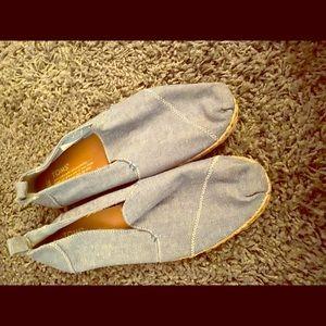 Toms espadrilles 8 worn TWICE